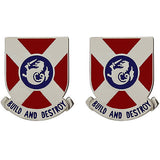 391st Engineer Battalion Unit Crest (Build and Destroy)