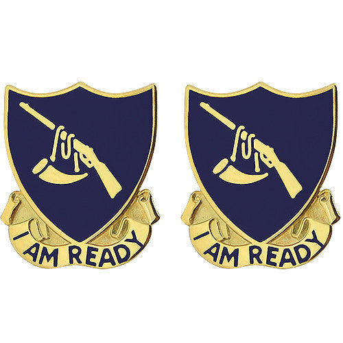 399th Regiment Unit Crest (I Am Ready)