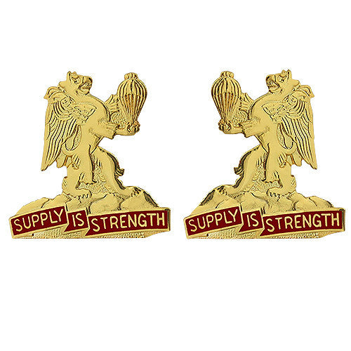 407th Support Battalion Unit Crest (Supply is Strength)
