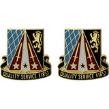 409th Support Battalion Unit Crest (Quality Service First)