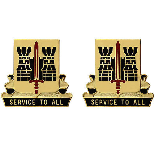 411th Support Battalion Unit Crest (Service to All)