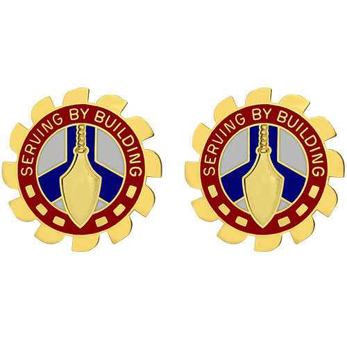 416th Engineer Command Unit Crest (Serving by Building)
