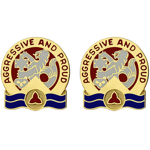416th Engineer Group Unit Crest (Aggressive and Proud)