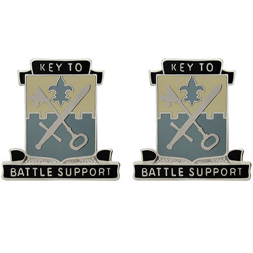 429th Quartermaster Battalion Unit Crest (Key to Battle Support)