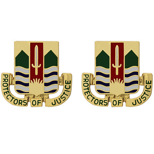437th Military Police Battalion Unit Crest (Protectors of Justice)