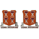 447th Signal Battalion Unit Crest (Signa Victoriae)