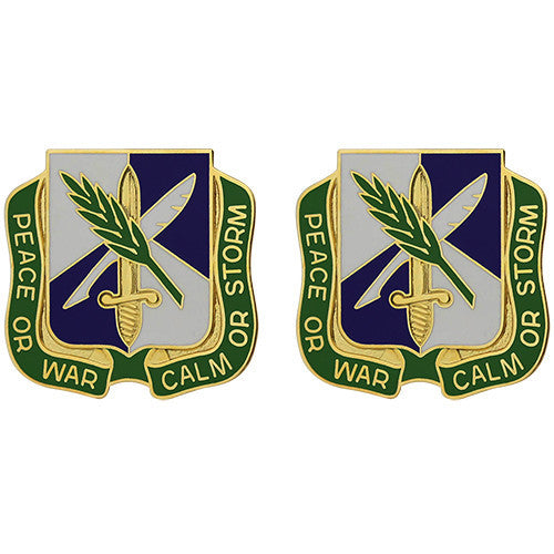 450th Civil Affairs Battalion Unit Crest (Peace or War Calm or Storm)