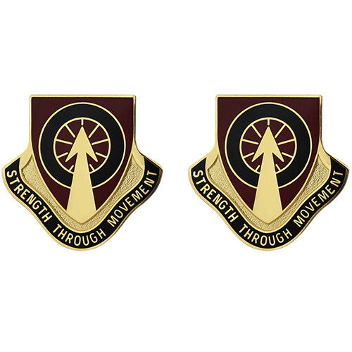450th Transportation Battalion Unit Crest (Strength Through Movement)