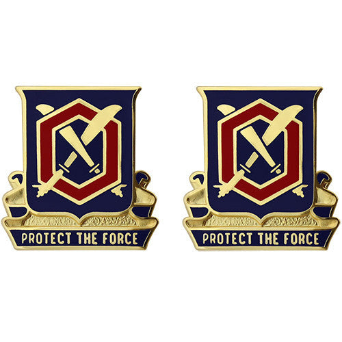 476th Chemical Battalion Unit Crest (Protect the Force)