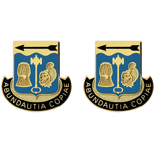 485th Quartermaster Battalion Unit Crest (Abundautia Copiae)
