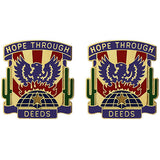 492nd Civil Affairs Battalion Unit Crest (Hope Through Deeds)