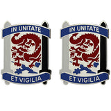 501st Military Intelligence Brigade Unit Crest (In Unitate Et Vigilia)