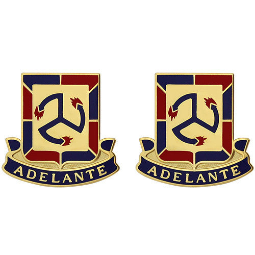 515th Regiment Unit Crest (Adelante)