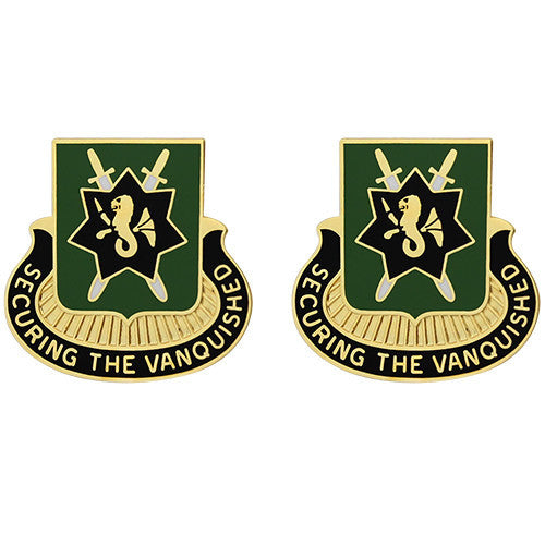 530th Military Police Battalion Unit Crest (Securing the Vanquished)