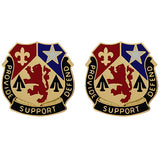 536th Support Battalion Unit Crest (Provide Support Defend)