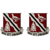 588th Engineer Battalion Unit Crest (Hic Et Ubique)