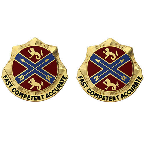 631st Field Artillery Brigade Unit Crest (Fast Competent Accurate)