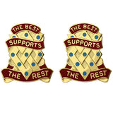 657th Support Group Unit Crest (The Best Supports the Rest)