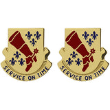 728th Support Battalion Unit Crest (Service on Time)