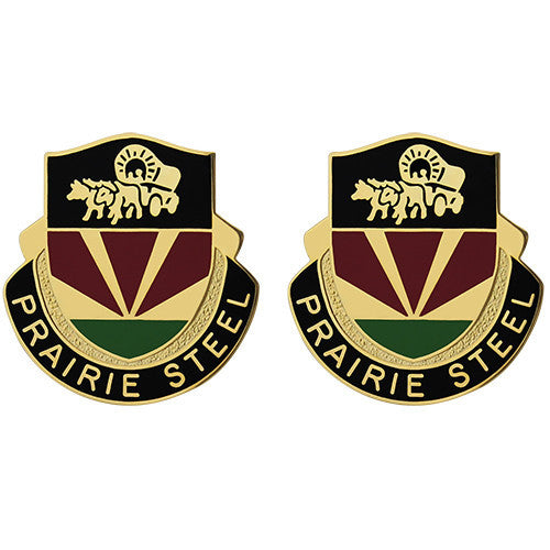 734th Transportation Battalion Unit Crest (Prairie Steel)