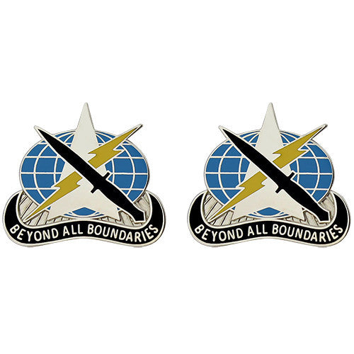 743rd Military Intelligence Battalion Unit Crest (Beyond All Boundaries)