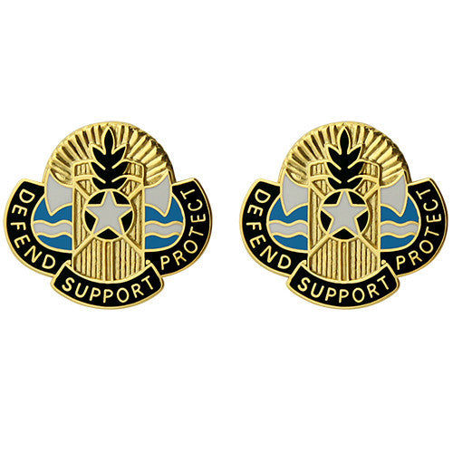 786th Support Battalion Unit Crest (Defend Support Protect)