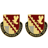 834th Support Battalion Unit Crest (Winged Warriors Support)