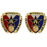 901st Support Battalion Unit Crest (Without Hesitation or Fear)