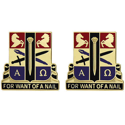 915th Support Battalion Unit Crest (For Want of a Nail)