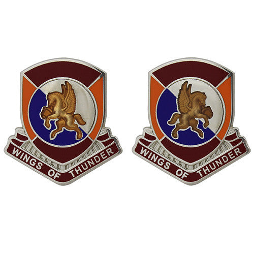 1204th Support Battalion Unit Crest (Wings of Thunder)