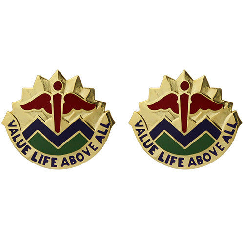 5502nd Hospital Augmentation Unit Crest (Value Life Above All)