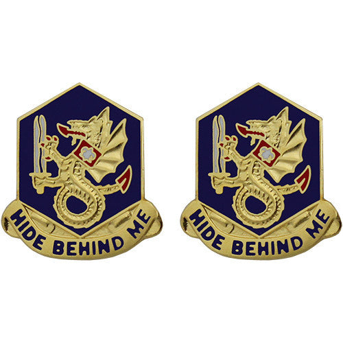 92nd Chemical Battalion Unit Crest (Hide Behind Me)