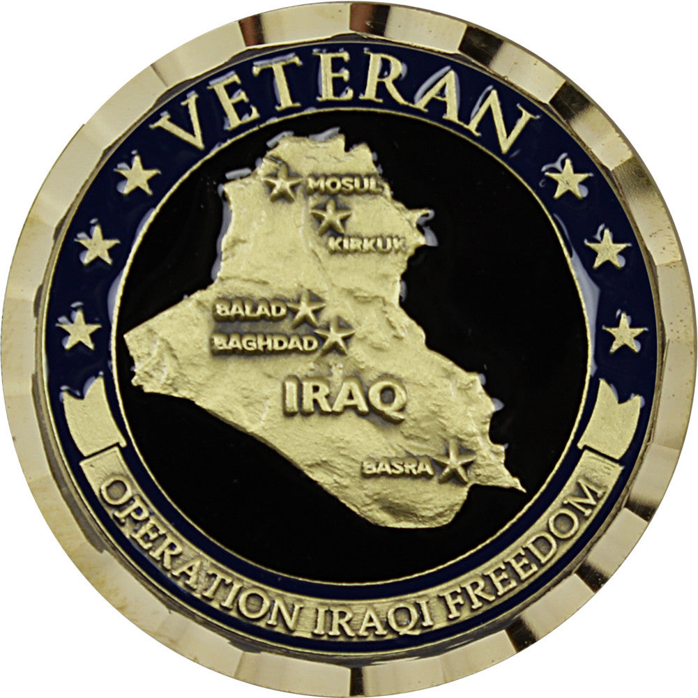 Operation Iraqi Freedom Veteran Challenge Coin - Front