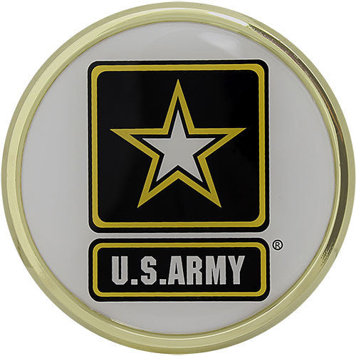 U.S. Army Star Logo Chrome Auto Emblem
