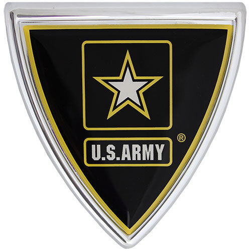 U.S. Army Star Logo Shield Chrome Auto Emblem