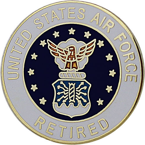 Air Force Retired with Crest 7/8