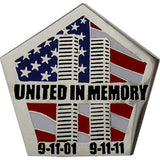 United in Memory 9/11 Twin Towers 1 1/4