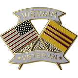 American and Vietnam Veteran Crossed Flags 1 1/8