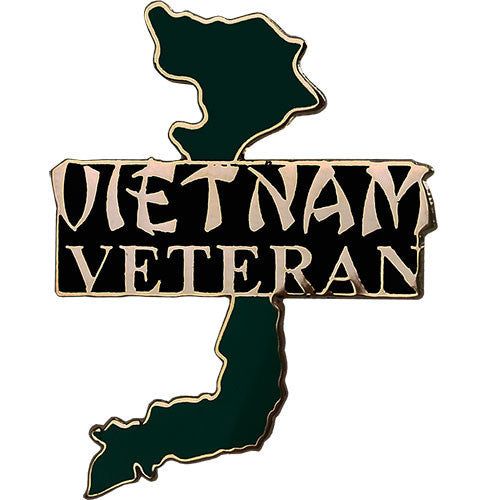Vietnam Veteran with Green Country Map 1 1/4