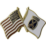 American and 10th Mountain Division Crossed Flags 1
