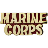 Marine Corps Gold on Red 1 1/8