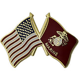 American and Marine Corps Crossed Flags 1