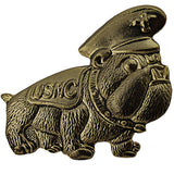 Marine Corps Bulldog with USMC Saddle Blanket 1 1/4