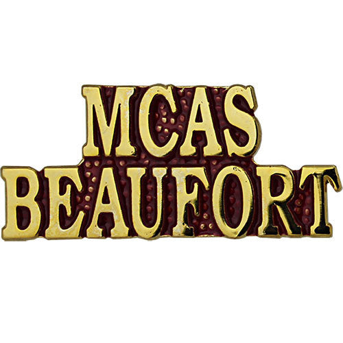 Marine Corps MCAS Beaufort Gold on Red 1 1/4