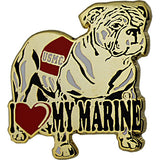 I Heart My Marine with Bulldog 7/8