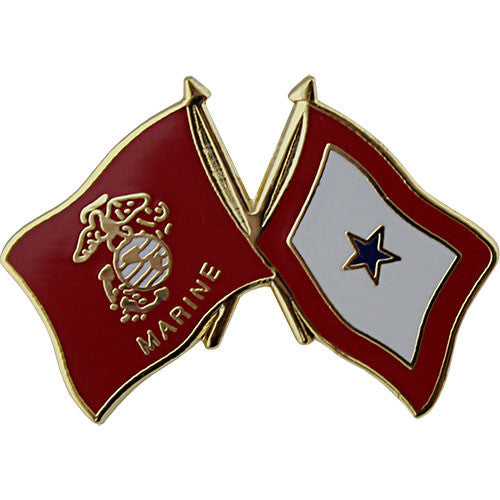 Marine Corps and Blue Star Service Crossed Flags 1