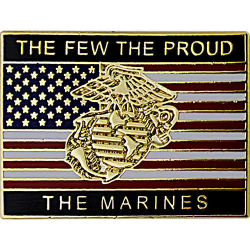 The Few The Proud The Marines American Flag 1