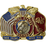 Marine Corps These Colors Never Run 1 1/4