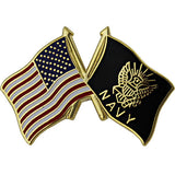 American and Navy Crossed Flags 1