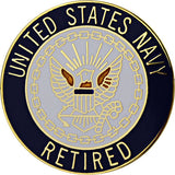 Navy Retired with Crest 7/8
